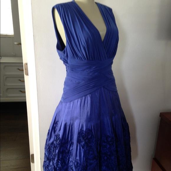 Adrianna Papell Dresses & Skirts - Blue Dress Women's 14 Holiday Dress Evening Dress